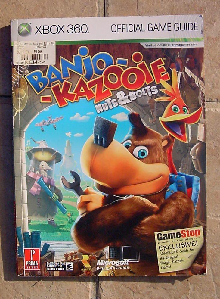 Banjo Kazooie Nuts Bolts Xbox 360 Game Guide Book Banjo