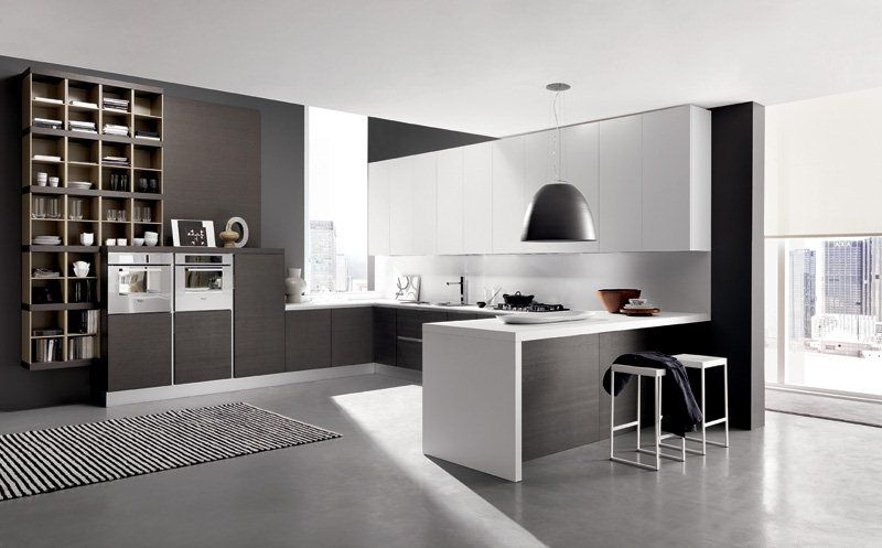 Kitchen Modern Black black white modern kitchen » minimalist urban style kitchen