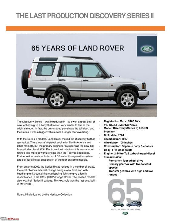 Http Www Team Bhp Com Forum Attachments 4x4 Vehicles 1090248d1369911783 Land Rover History Vehicles 65th Annive Land Rover Range Rover Land Rover Discovery 2