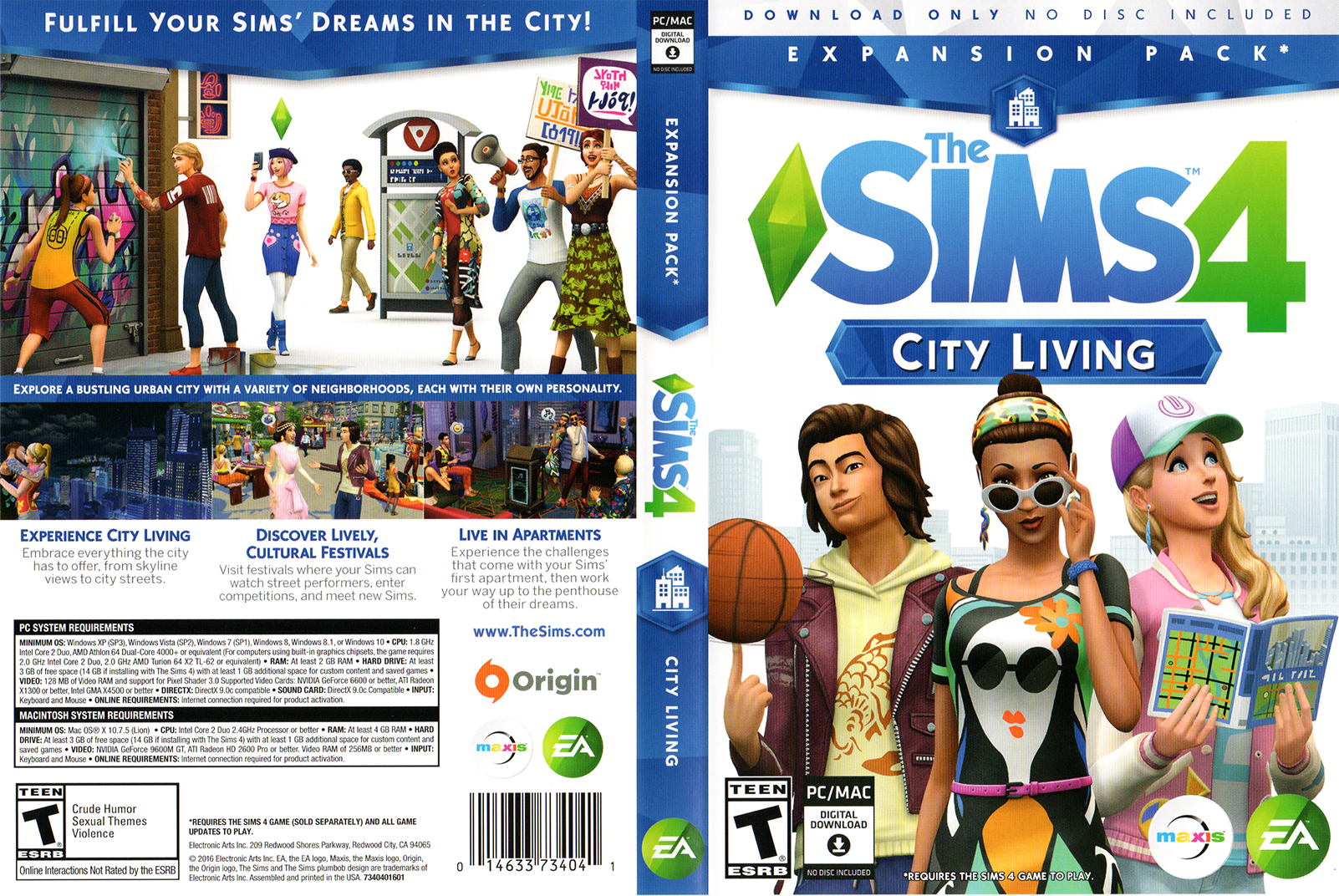 The Sims 4 City Living Full Box Art Simsvip Sims 4 City Living Sims Sims 4