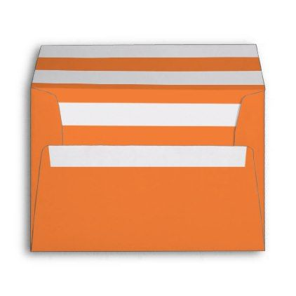 White And Orange Stripes Pattern Lining Ii Envelope  Pattern