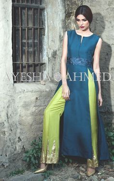 Ayesha Ahmed Formal Silk Dresses 2016 For Girls