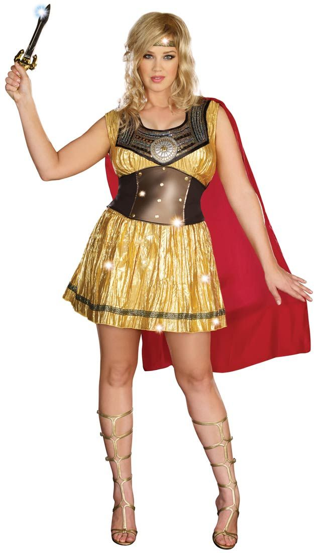 ff0b89c4099 Golden Gladiator Plus Size Costume - Greek and Roman Costumes ...