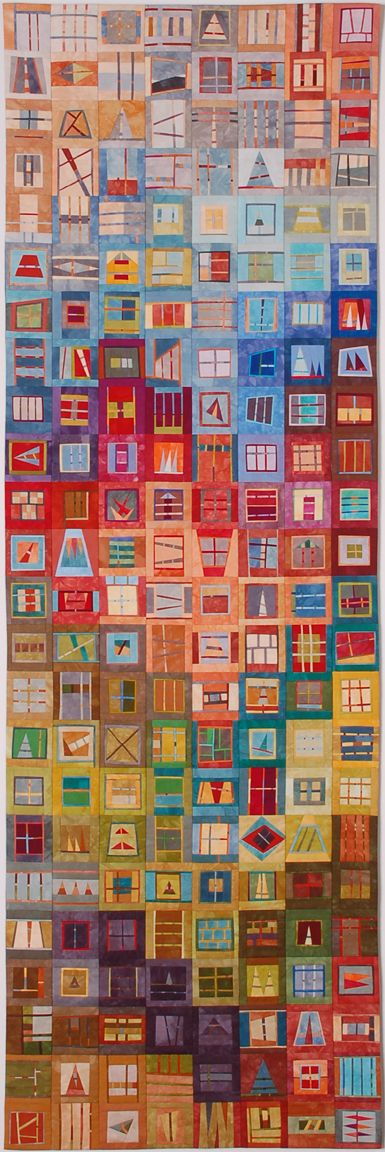 """People's Choice Award. Erin M. Wilson, Miscellany ©EW. 20"""" x 61"""".  Quilt National '09 ...wow!!!"""
