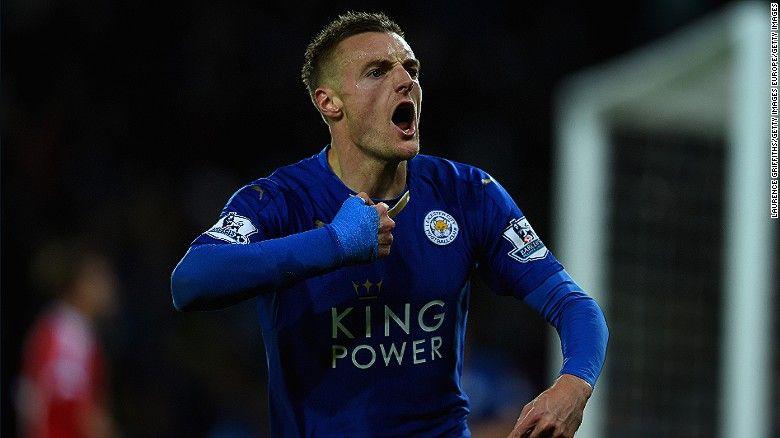 Jamie Vardy Leicester City Striker Breaks Epl Record Cnn Jamie Vardy Leicester City Manchester United Transfer