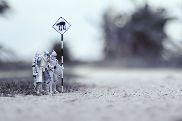 """Malaysian photographer Zahir Batin has created a photo series that gives us a glimpse of what the life of a """"Star Wars""""stormtrooper would be like. Using a combination of actual figurines and handmade props, Batin depicts scenes ranging from dramatic moments, to mid-action depictions, to just plain hilarious happenings."""