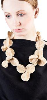 felt necklace - gudrun geijer