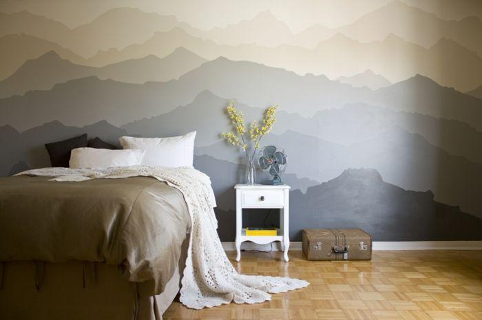 32 Wandfarben Ideen Mit Aquarell Die Sie Begeistern Werden Wandgestaltung Wandbilder Schlafzimmer Und Wand Malen