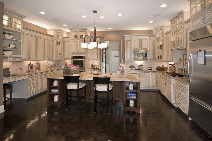 Home Cream Cabinets Dark Floors Cream Kitchen Cabinets Dream
