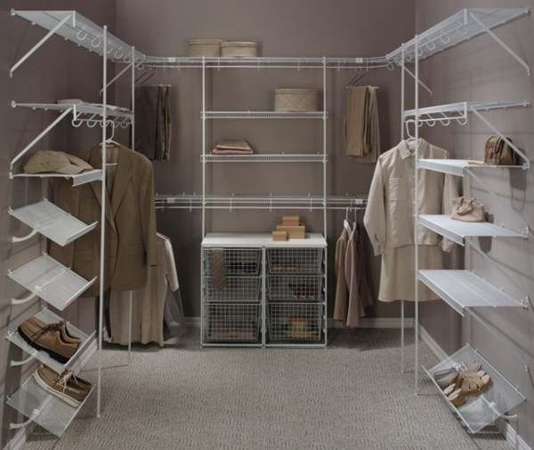 awesome organization ideas bedroom design closet shelving | wire shelves for closet ideas photo - 17 Awesome Wire ...