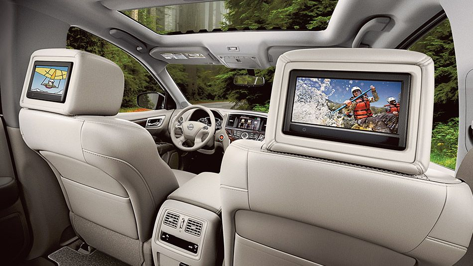 NissanPathfinderentertainment Screens Cool Cars - Cool cars with 3rd row seating
