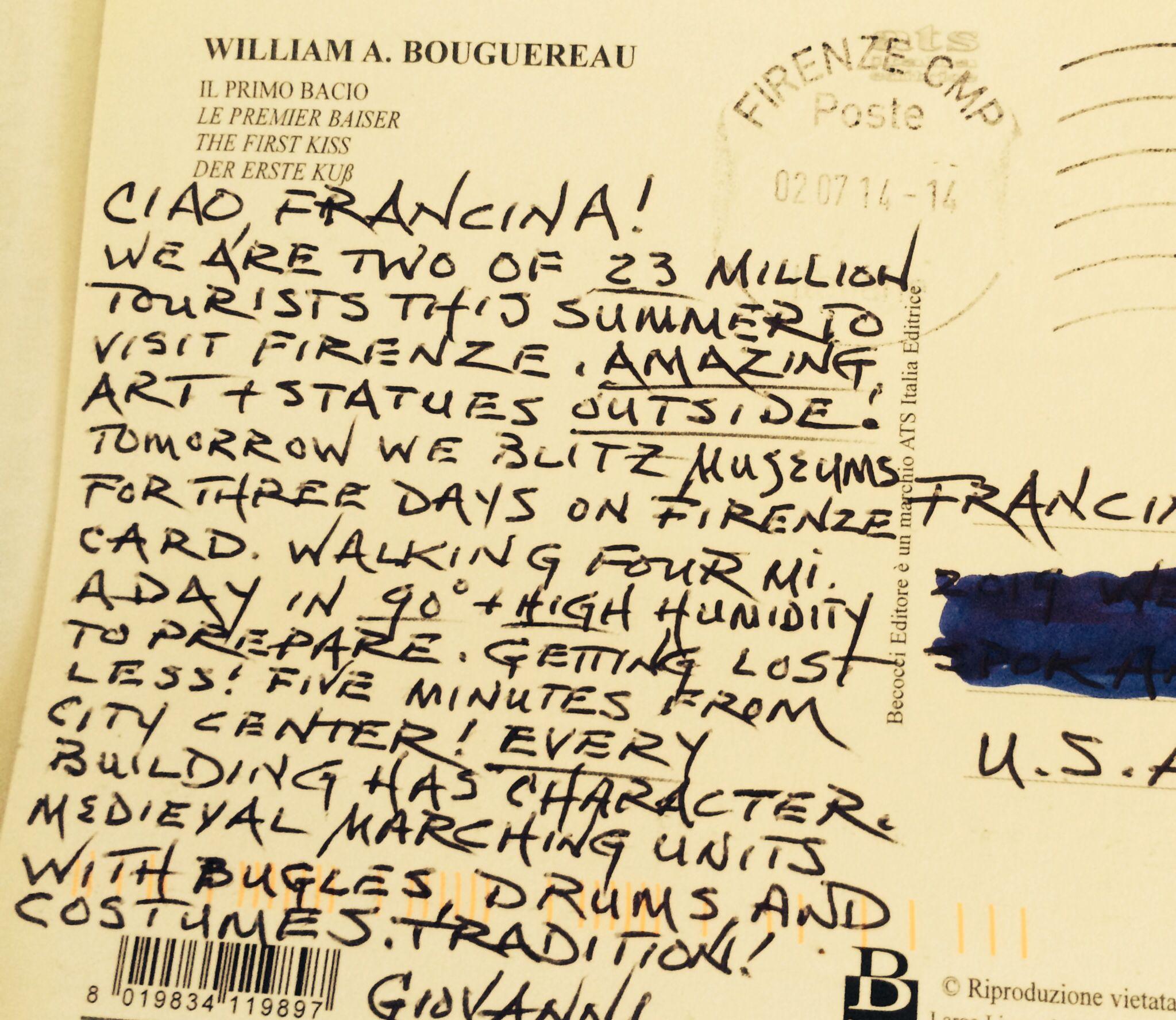 Giovanni on vacanza 8-7-2014