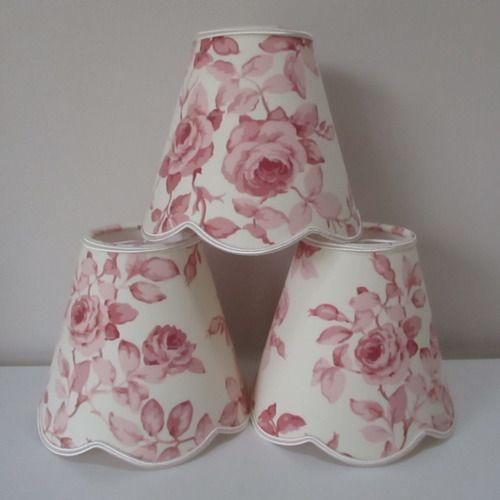 blanc crème roses fleurs Unique Grand abat-jour abat-jour