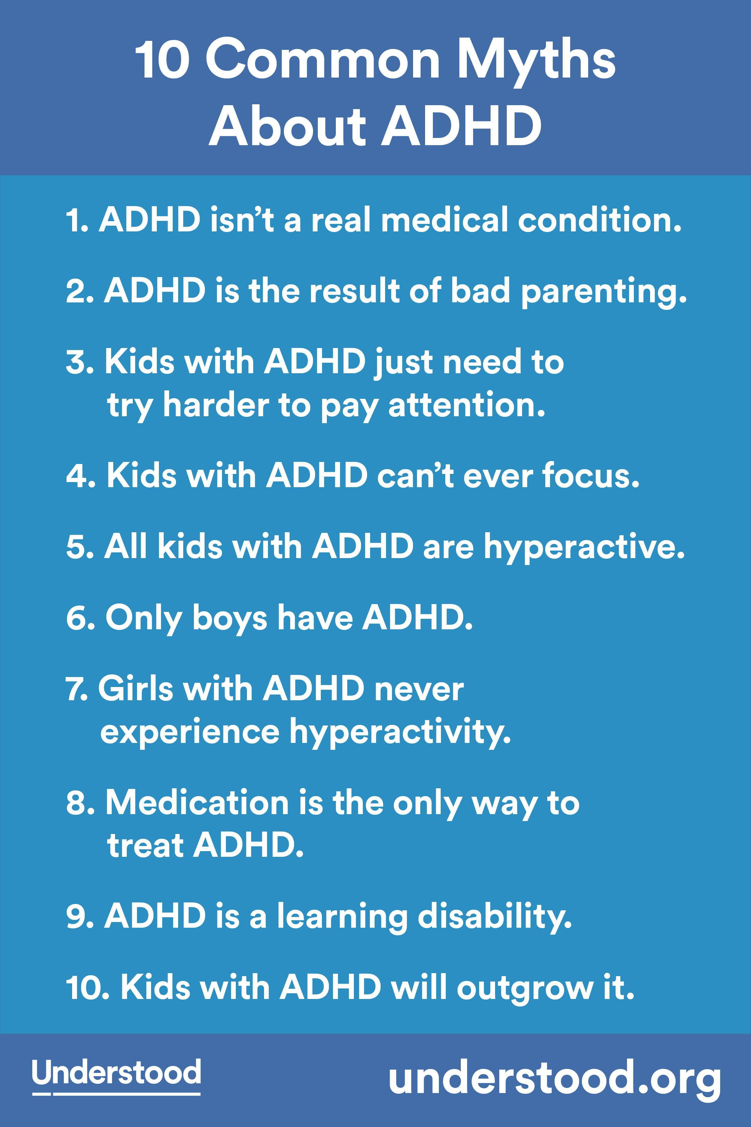 Just How Common Is Adhd Really New >> 10 Common Myths About Adhd Adhd And Attention Focus Issues Adhd