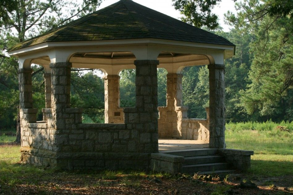 Decoration Divine Gazebo Decoration Outdoor With Brick Style Wall