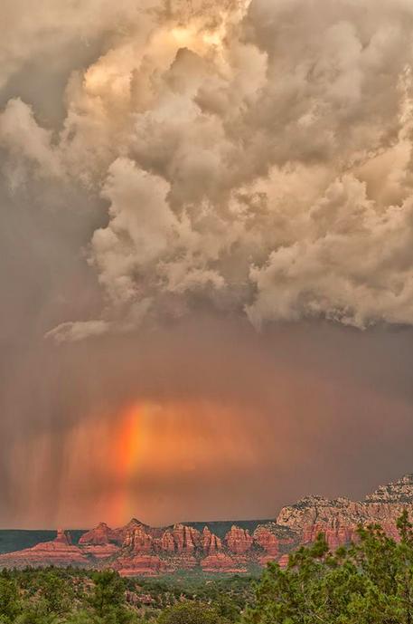 Monsoon near Sedona. Arizona, Places to visit, Us arizona