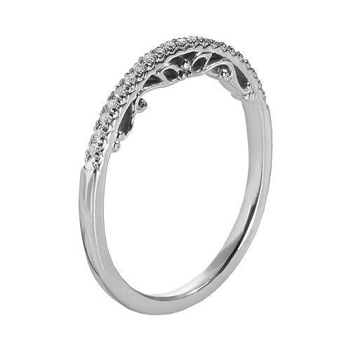 Simply Vera Vera Wang 14k White Gold 1 10 Ct T W Diamond Wedding Ring Vera Wang Engagement Rings Vera Wang Ring Diamond Wedding Rings