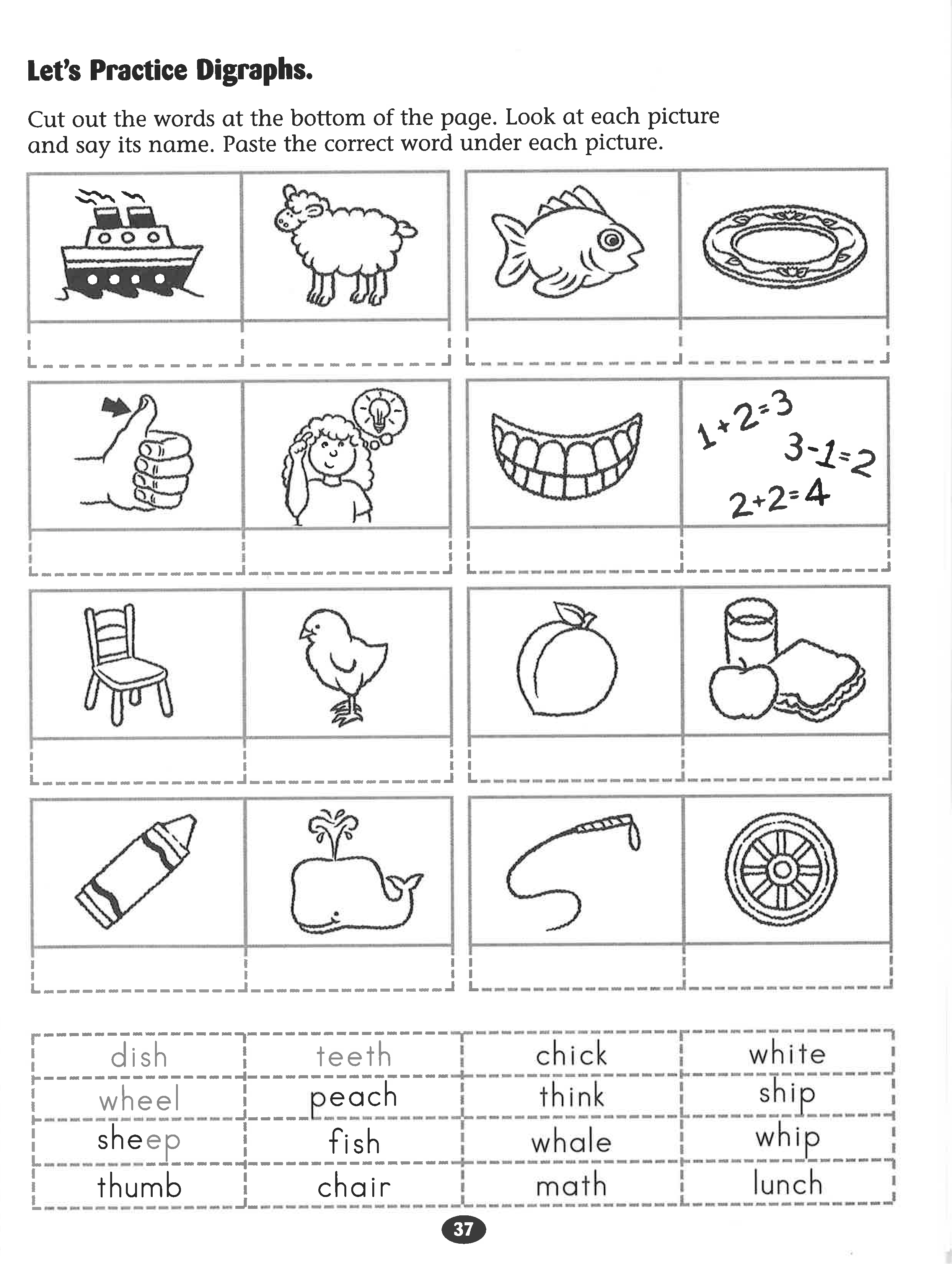 Let S Practice Digraphs Worksheet