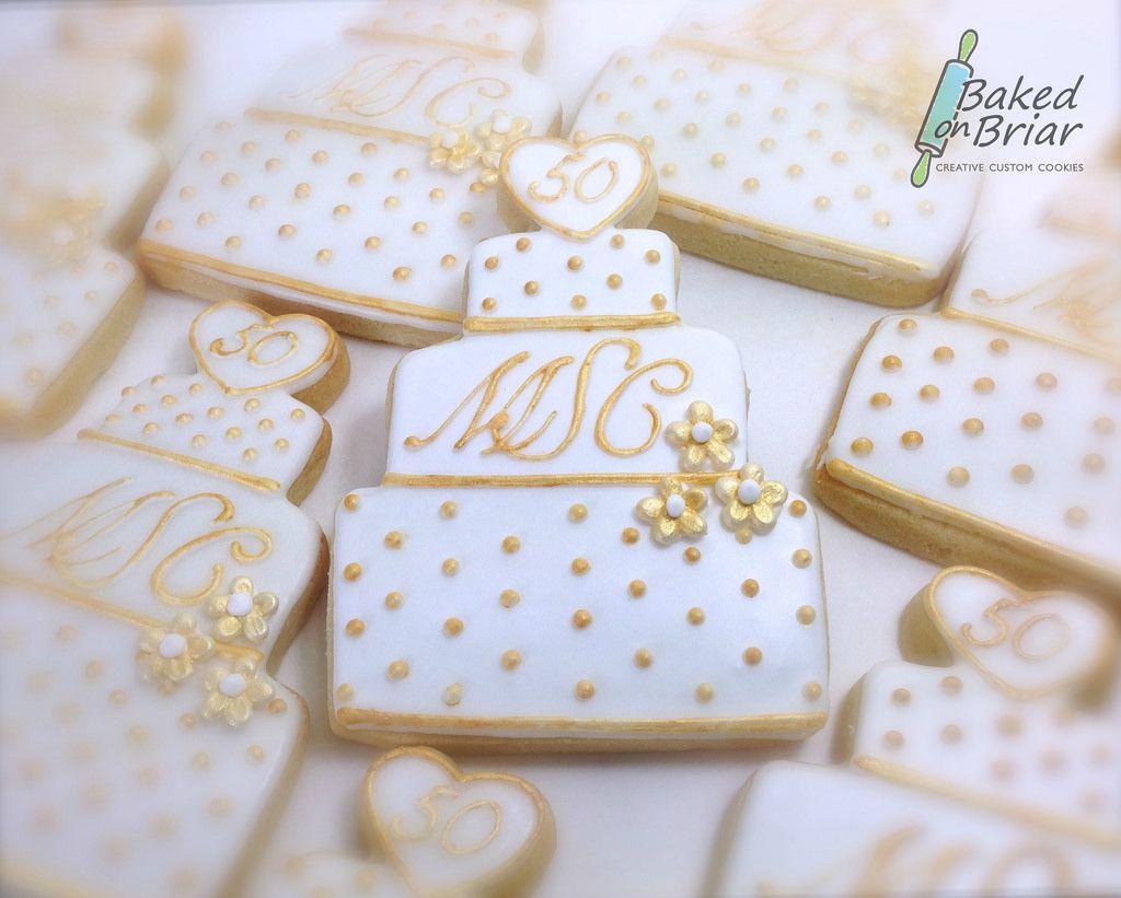 50th Wedding Anniversary Cookies | Anniversary cookies, Wedding ...