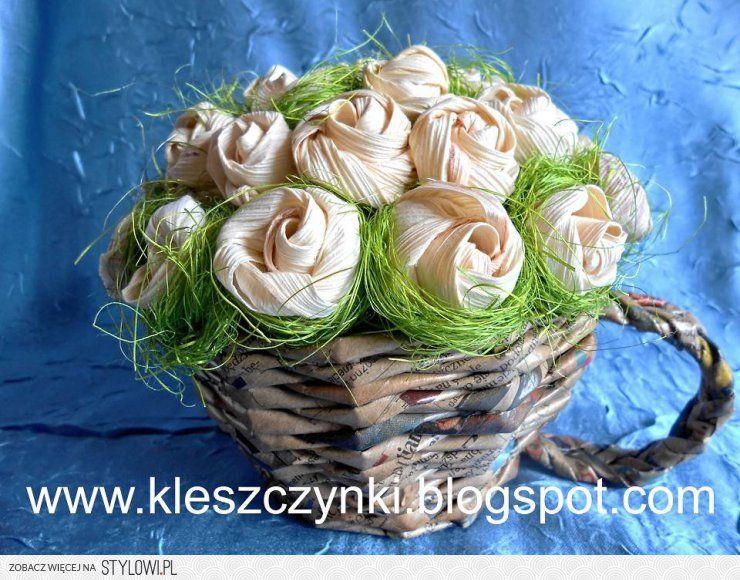 Kwiaty Z Lisci Kukurydzy Na Stylowi Pl Flowers Vegetables