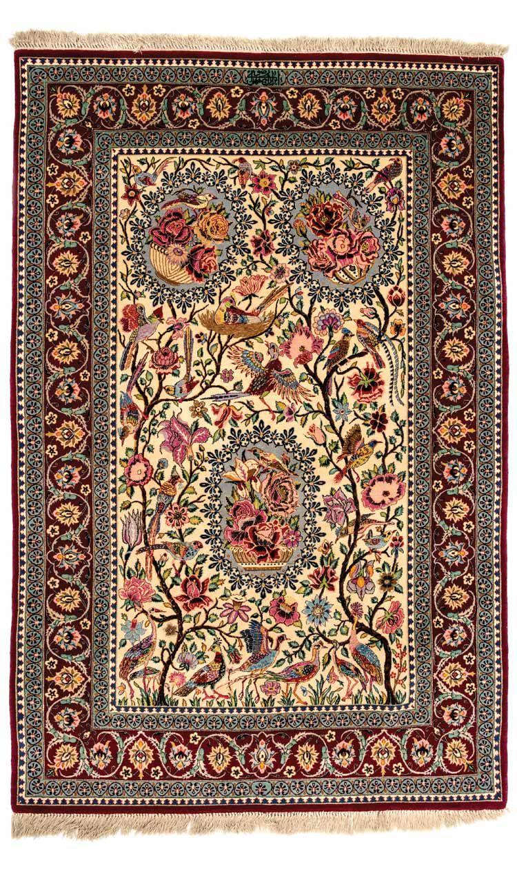 Signed Isfahan Razavi Carpet Central Persia Circa 1970 Signed Iran Isfahan Razavi Dimensions Approx 163 X 109 Cm I Alb Rugs Carpet Runner Carpet Handmade