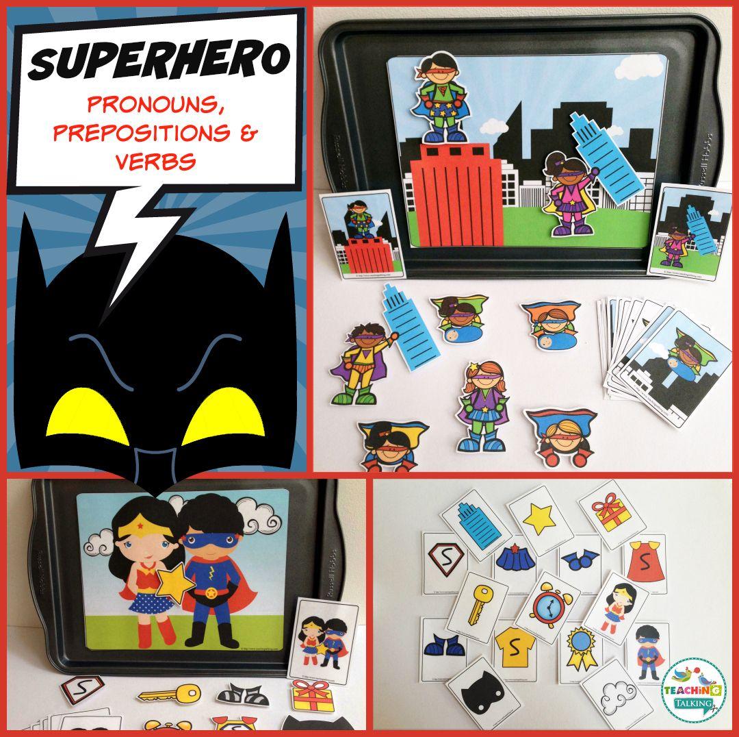 Superhero Preschool Language Activities For Speech Therapy