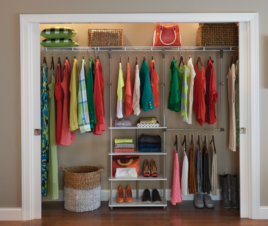 Attractive Closet Maximizer From ClosetMaid.com   No Installation, Just Hangs From  Existing Rod.