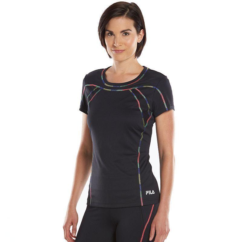 Women's FILA Sport® Pop Stitch Crewneck Workout Tee, Size: