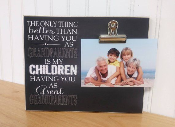Grandparents Photo Frame Gift For Grandparents  {Only Thing Better.. Great Grandparents} Great Grand #grandparentphoto