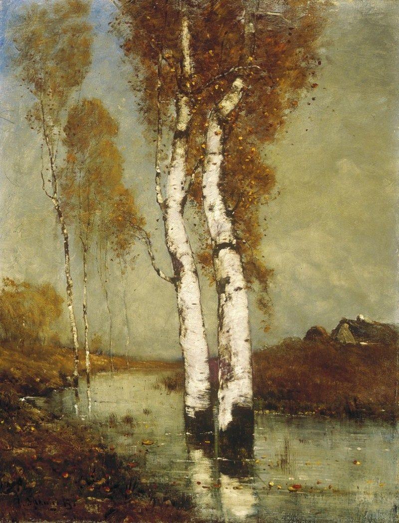 K. Spányi Béla(Hungarian, 1852-1914)  Landscape in Moorland  oil on canvas