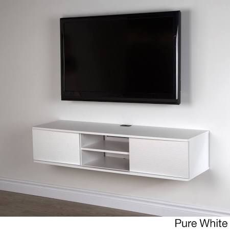 South Shore 9029676 Agora White 56 Wall Mounted Media Console Wall Mounted Media Console Wall Mounted Tv Tv Wall Design