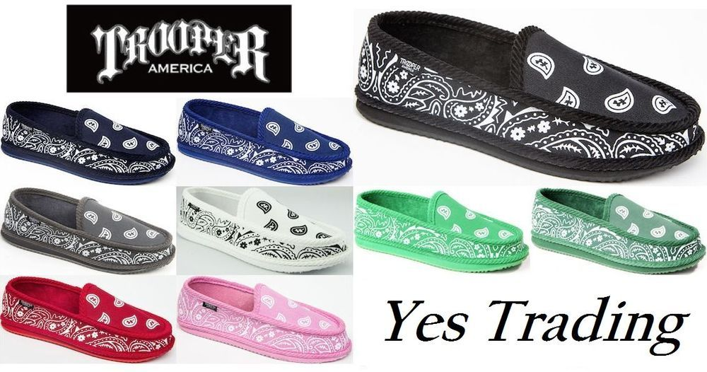 404fdbc80641 TROOPER AMERICA PAISLEY BANDANA HOUSE SHOES MENS SLIPPERS INDOOR SLIP ON  SHOES  TrooperAmerica  HouseShoesSlippersSlipOn