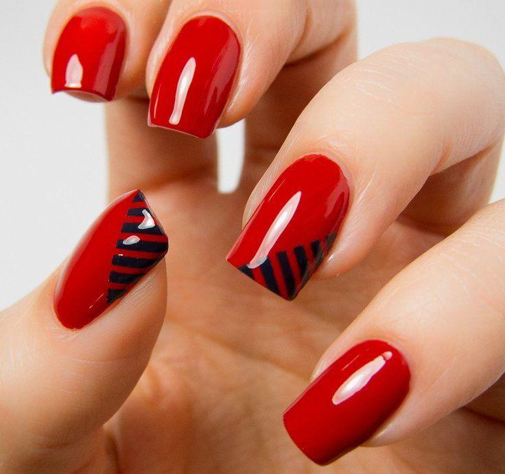 Uñas-de-color-rojo-20.jpg (736×690)   Maquillaje   Pinterest   Uñas ...