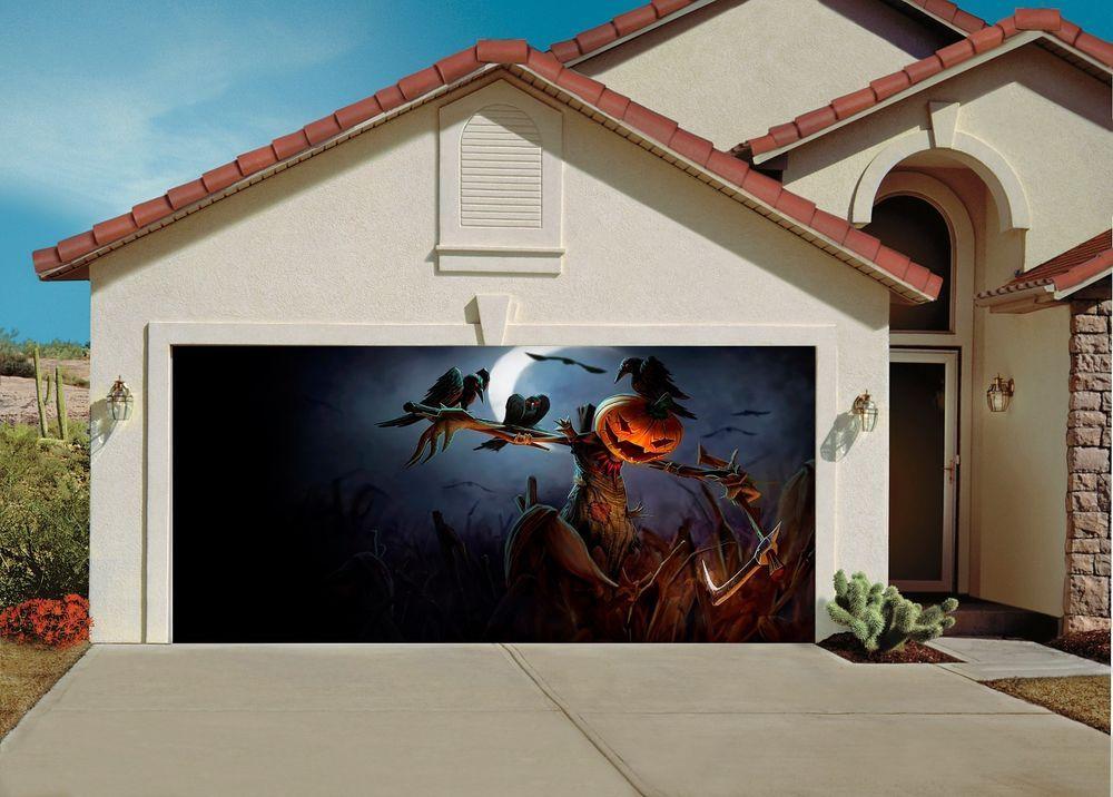 Garage Door Covers 3d garage door covers banner halloween decor pumpkin decoration