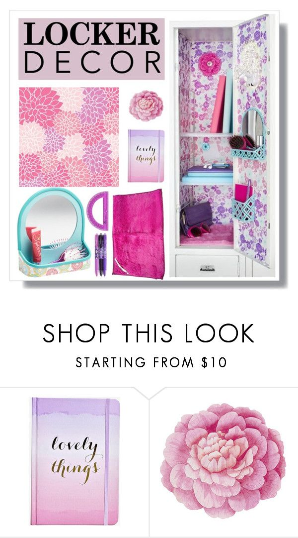 """Decorate Your Locker"" by malinda108 ❤ liked on Polyvore featuring interior, interiors, interior design, home, home decor, interior decorating, Boohoo, Ballard Designs, Vera Bradley and BackToSchool"