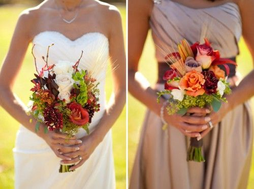 Elegant And Rustic Fall Flowers Love The Bridesmaid Bouquet
