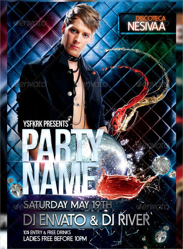 Free Best Design Templates  Night Club Flyer Template And Template