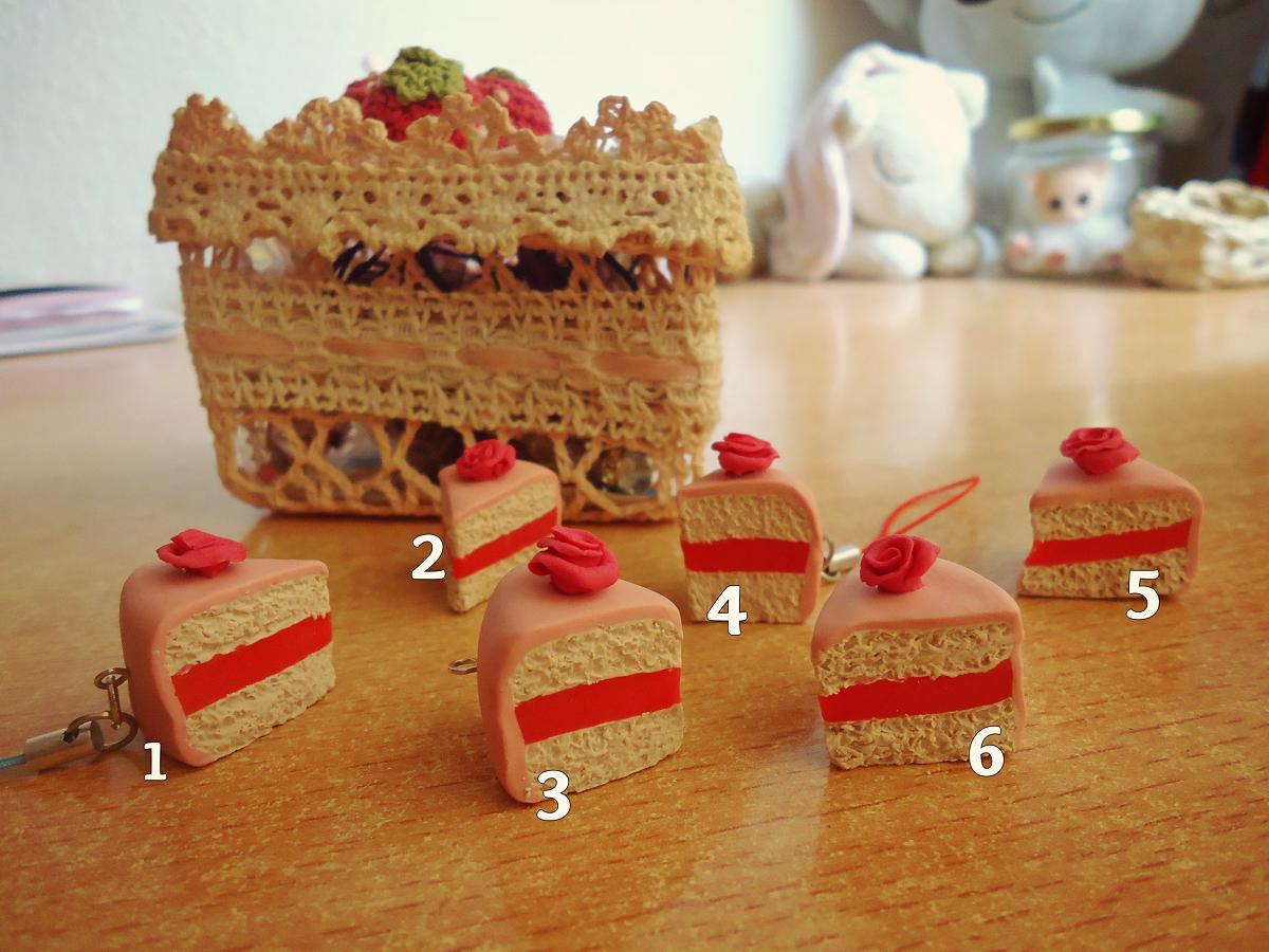 Rose Cake Charms €8 ($11)  http://judithchen.storenvy.com/  https://www.etsy.com/listing/193672719/rose-cake-charm?ref=shop_home_feat_4