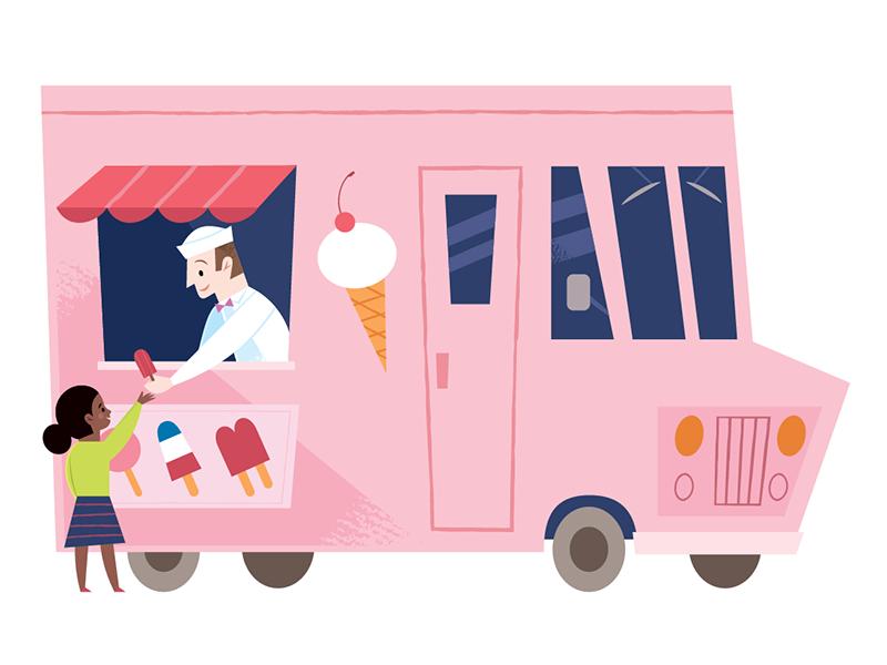 Ice Cream Truck Ice Cream Art Ice Cream Truck Ice Cream Illustration