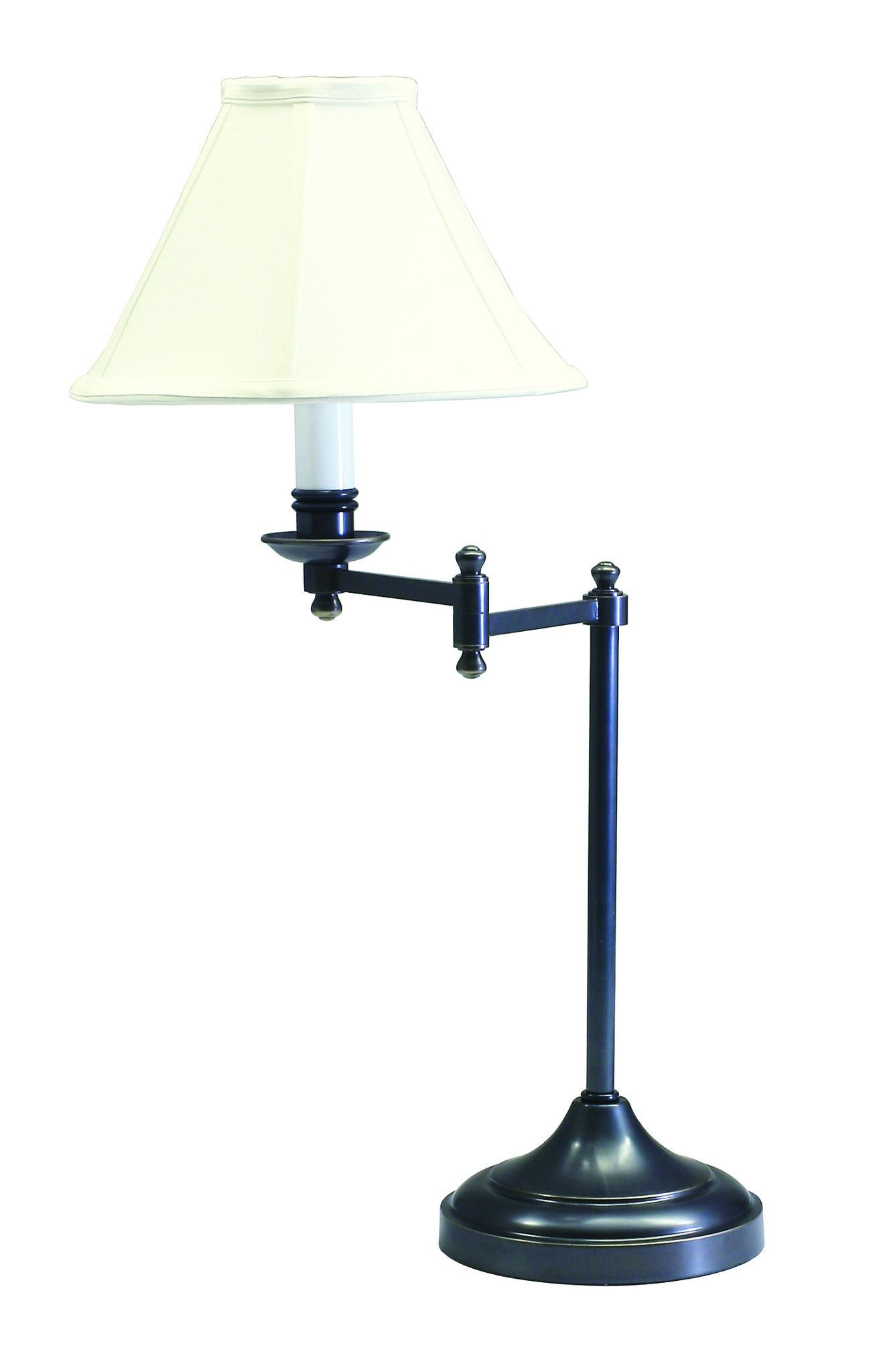 Oil Rubbed Bronze Table Lamp with swing arm