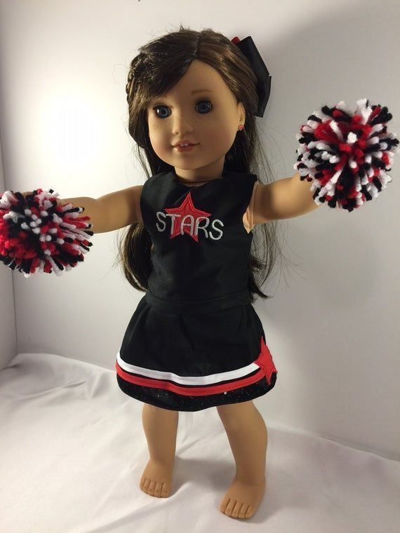 18 Inch Doll Clothes, Clothes For Dolls, Doll Cheer Outfit, Custom Doll Clothes, Custom Cheer Outfit