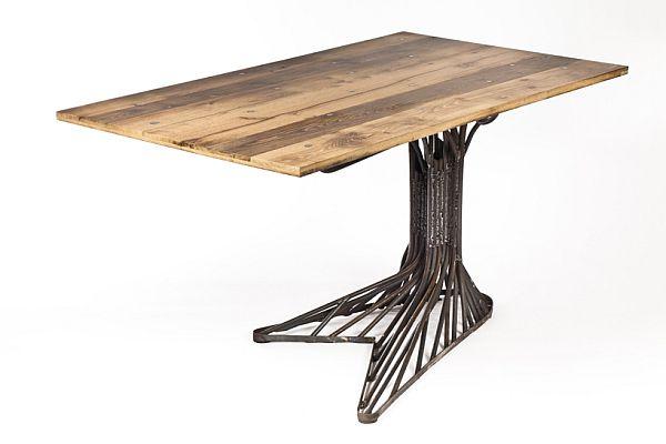 Oak Tree Table Made Of Steel Fancy
