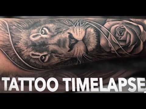 9568318162efa TATTOO TIMELAPSE | LION and ROSE | CHRISSY LEE - YouTube All credits to  Chrissy Lee