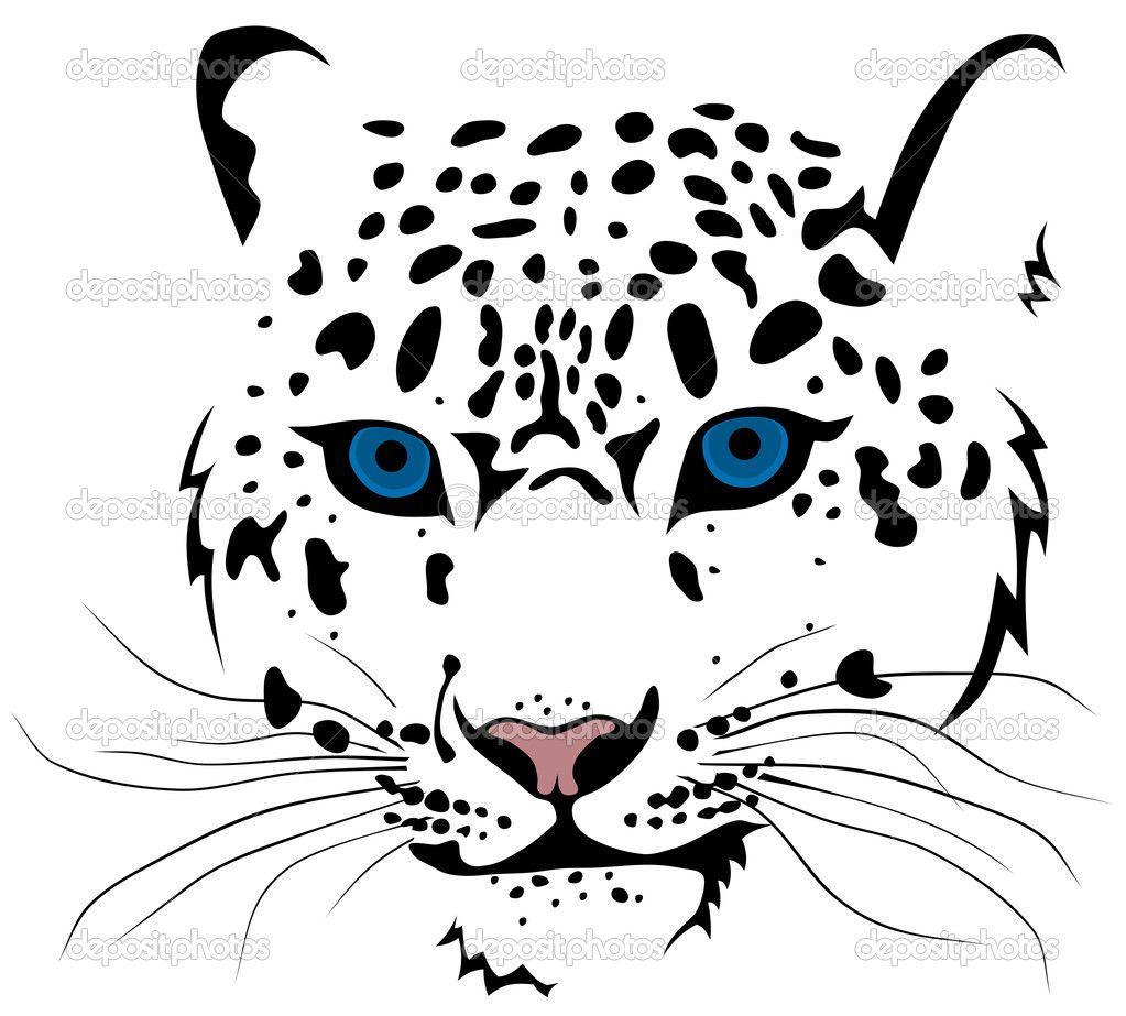 Cheetah Head Stencil Twitter Facebook Pinterest Google