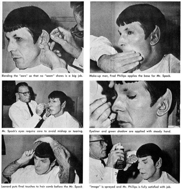 Fred B Spock Makeup On Leonard Nimoy Took Approximately 2 Hours