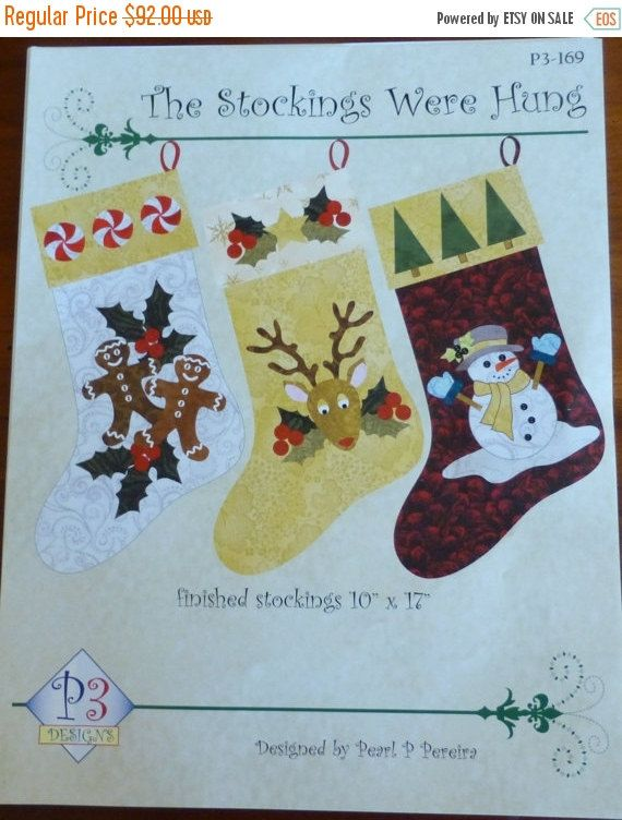 Clearance Sale Stocking Kit, Pattern, Christmas Laser Cut,The Stockings Were Hung,RJR Fabrics Fast Shipping K105