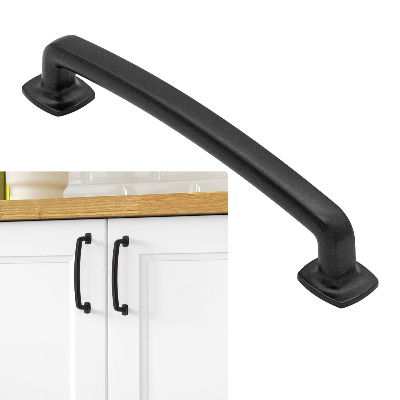 matte flat black cabinet hardware modern farmhouse kitchen bathroom cupboard drawer door pull 5 on farmhouse kitchen hardware id=96149