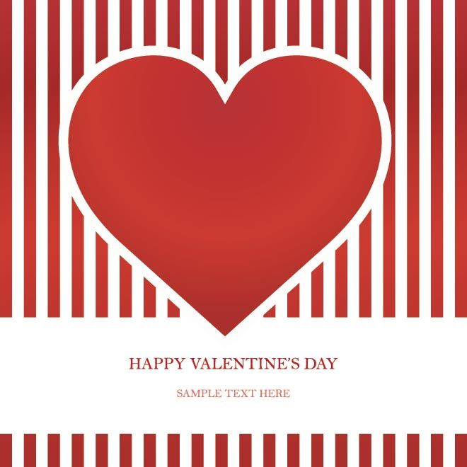 Free Vector Happy Valentine S Day Red Invitation Card Free Vector Graphics Download Free Vector Happy Valentines Day Happy Valentine Valentine Invitations