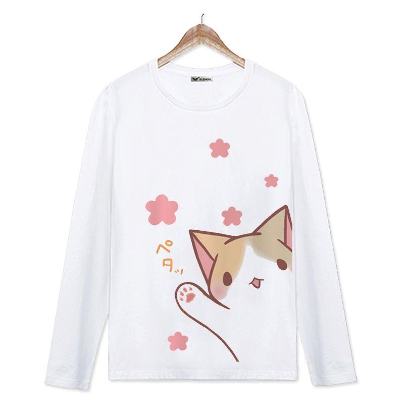 Anime neko atsume cat pullover coat hoodie sweatshirt