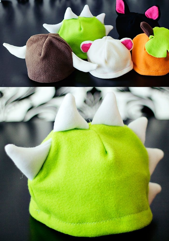 Free Fleece Animal Hat Patterns - Dinosaur, Cat, Bear and more ...